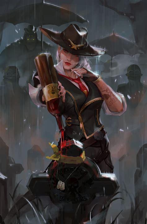 ashe overwatch zerochan anime image board