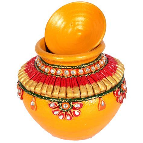 kundan decorated matki boontoon