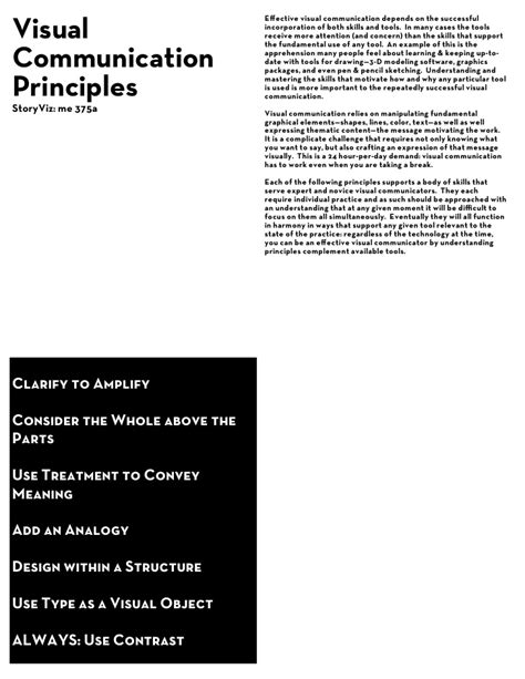 visual communication design elements and principles visual communication design principles