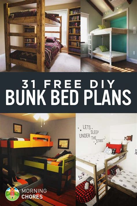 cool bunk bed plans best 25 bed plans ideas on platform bed plans