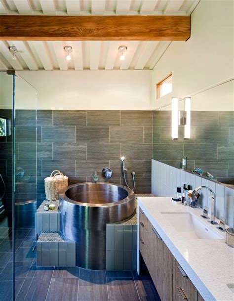Traditional Wooden Kitchens - japanese soaking tubs for small bathrooms as interesting idea for any house interior design