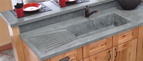 cement kitchen sink integrated kitchens sinks drainboards 171 mcgregor designs