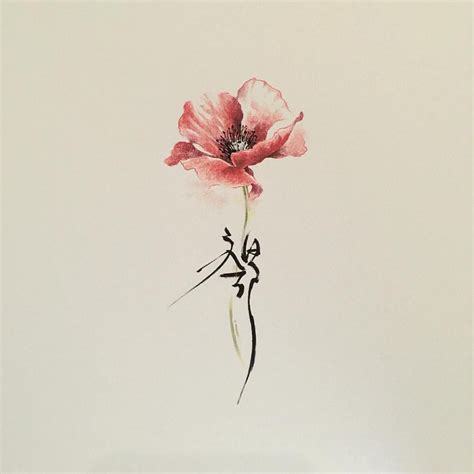 flower tattoo representation beautiful flower tattoo could have the stem say whatever