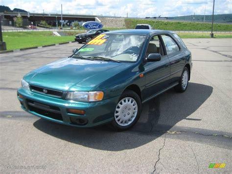 green subaru hatchback 1997 acadia green pearl metallic subaru impreza l wagon
