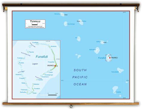 tuvalu on world map tuvalu politische karte