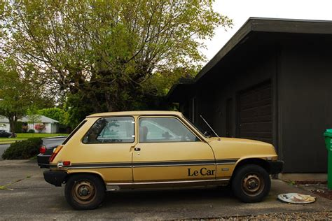 renault hatchback from the 1980s parked cars may 2012