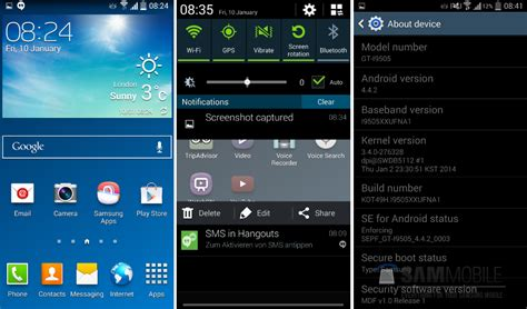 android 4 4 2 kitkat android 4 4 2 leaked for samsung galaxy s4 gt i9505 sports same ol touchwiz ui droid