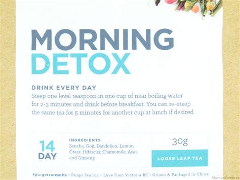 Morning Detox Tea Reviews by Purgo Tea Detox Chantal S Corner