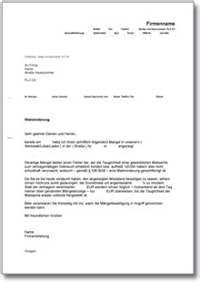 mietminderung bei gewerbemietvertrag de musterbrief