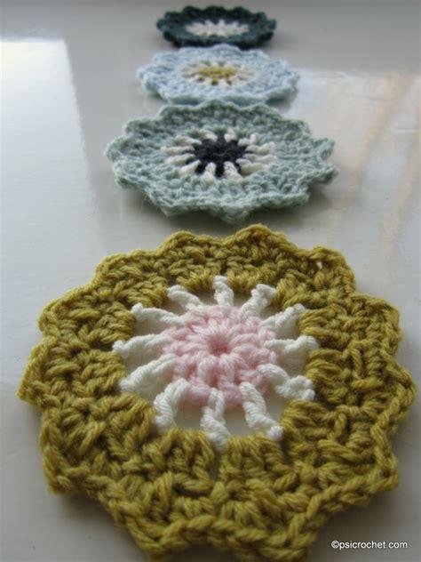 pretty coaster p s i crochet