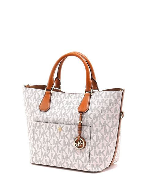 Vanilla Bag 3 michael kors 35s7ggrs3b signature large greenwich satchel