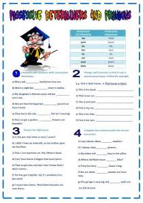 possessive pronouns worksheet 8vo basico