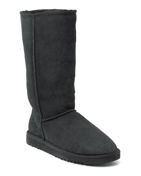 ugg classic boots in black lyst