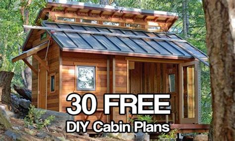 small cabin building plans  diy cabin plans diy cabin