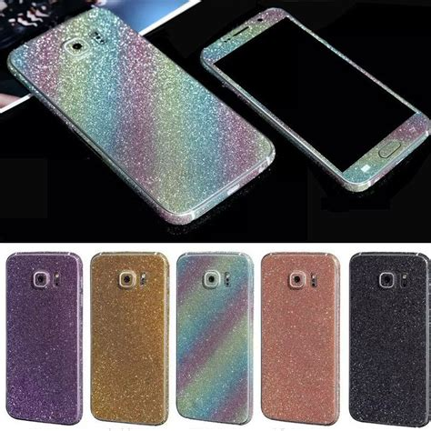 Samsung Galaxy S7 Glitter Shining Skin Stiker Guardskin Protection color foil glitter sticker for samsung galaxy s6 s6edge