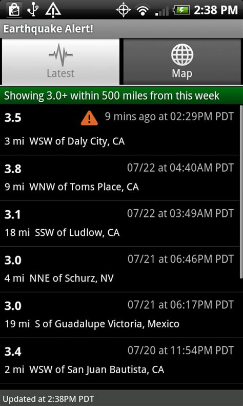 earthquake alert app earthquake alert app for android top best free apps