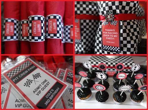 Racing Decorations Race Car Birthday Ideas Printable Decorations