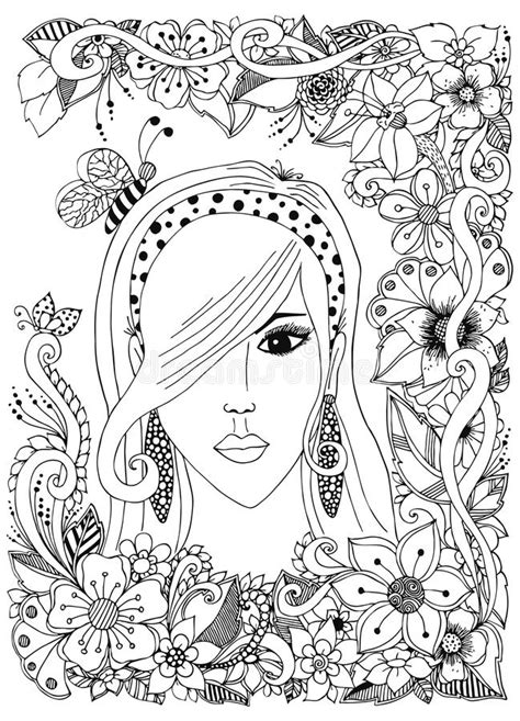 doodle free hair vector illustration with asian zentangle bee inher
