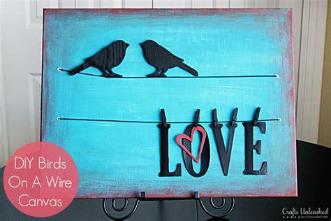 canvas crafts diy birds on a wire diy canvas wall tutorial