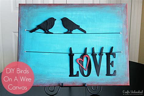 birds on a wire diy canvas wall tutorial