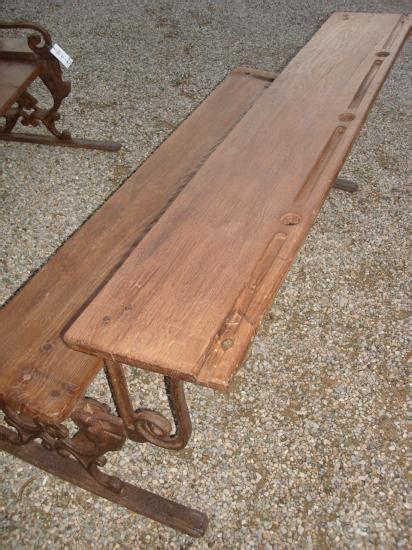 panchina ghisa e legno ra ma antica panchina banco da scuola in ghisa e legno
