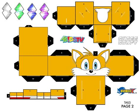 Fox Papercraft - tails the fox papercraft page 2 by xchosenone1 on deviantart
