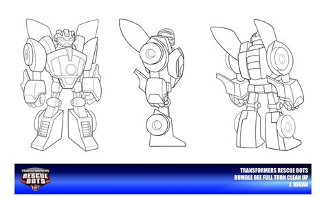 coloring page rescue bots rescue bots bumble bee clean up by thegreatjery on deviantart
