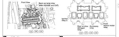 blower motor relay located  altima