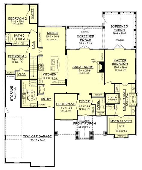 floor plan house 3 bedrm 2597 sq ft craftsman house plan with photos 142 1168