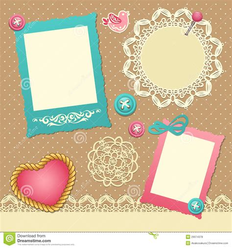 scrapbook template royalty  stock  image