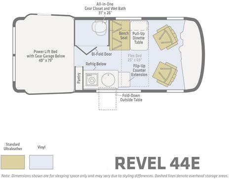 Winnebago Via Floor Plans by Winnebago Touring Coach Revel Details Of The Winnebago Revel
