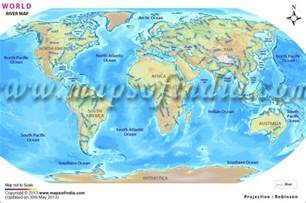 world rivers in map world river map major rivers of the world