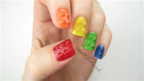 lego nails tutorial 3d lego nails youtube