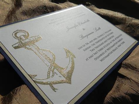 gold embossed wedding invitations uk nautical wedding invitation 4 pc suite with gold embossed
