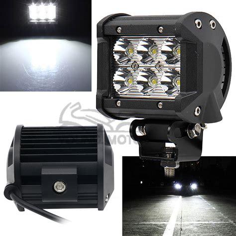 spot light bars for trucks 1pcs 4 quot 18w 1260 lumen motorcycle 6 led spot beam fog