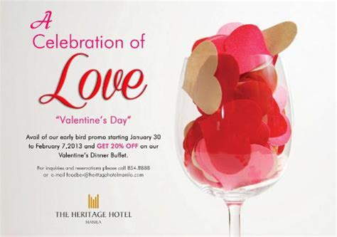 valentines dinner and hotel heritage hotel valentine s dinner buffet philippine