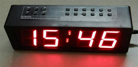 alarm clock with 12 daily programmable alarms display in 2 3 quot high led digits ebay