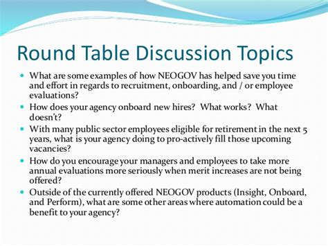 Mba Discussion Topics 2014 by Neogov Carolina Regional Users And Networking