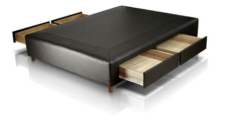 sommiers con cajones box con 4 cajones 2 plazas 1 90 x 1 40 en ecocuero