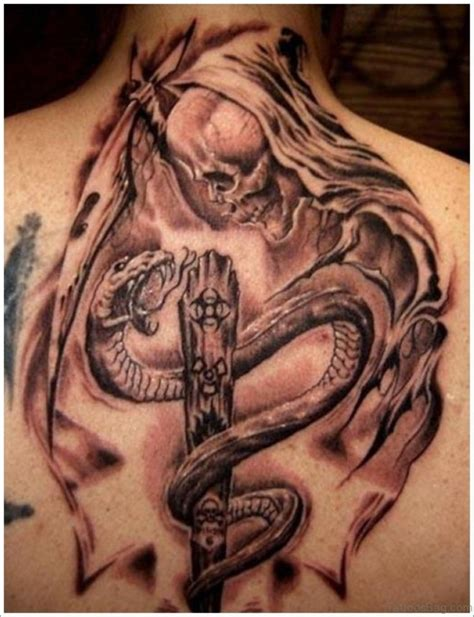 skull and snake tattoo 45 awesome snake tattoos on back