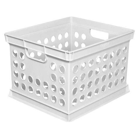 target crates milk crate storage bin white room essentials target