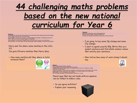 questions related to new year 44 challenging year 6 maths problems new curriculum by