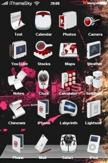 hot kiss themes for mobile phones download pink kiss black art iphone theme apple theme