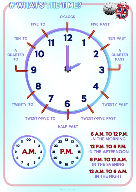 printable clock poster 124 free telling time worksheets and activities