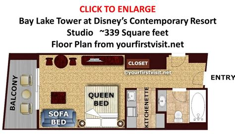 Bay Lake Tower Studio Floor Plan | review bay lake tower at disney s contemporary resort