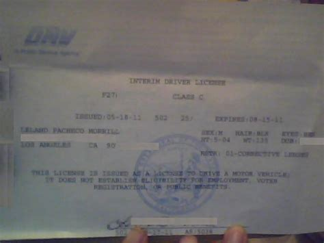 temporary drivers license template adopted americans real id act wouldn t you
