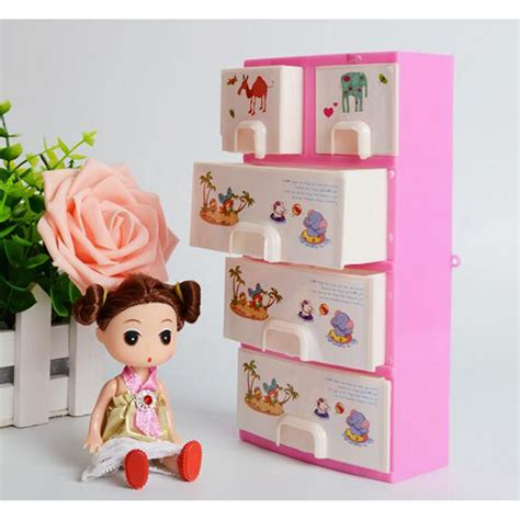 pink bedroom accessoires doll furniture closet wardrobe storage pink cabinet