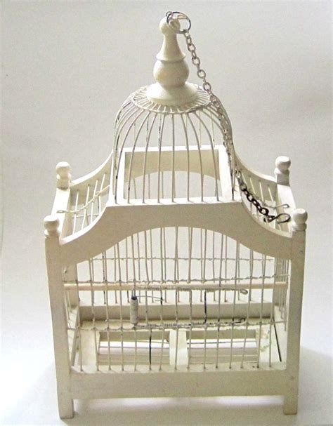 white bird cage vintage home decor castle style gondola
