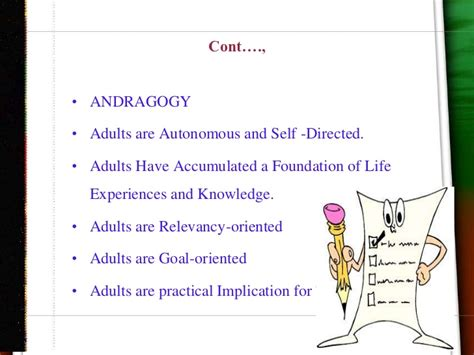 Andragogy Learning Theory Mba by Androgogy Ppt Bec Doms Bagalkot Mba
