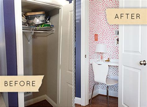 before after a tiny closet becomes a charming home